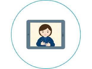 手話通訳(日本手話)を全プランに標準提供