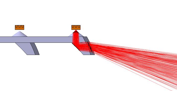 反射を利用したレンズ設計例